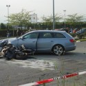 L'incidente mortale in Via Erba (foto de Il Cittadinomb.it)