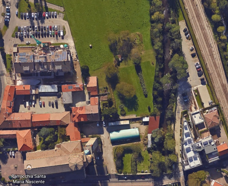 Variante Re3, l'area di Via Roma da Google Earth